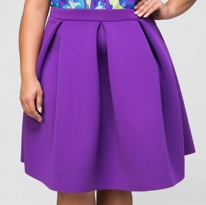 Purple Pleat Neoprene Skirt